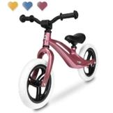 Lionelo Bart Laufrad ab 2 Jahre bis zu 30 kg Magnesiumrahmen 12 Zoll Räder Lenkrad und Sattel höhenverstellbar Lenkradschloss Fußstütze Tragegriff Ultraleicht (Rosa) - 1