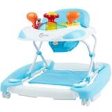 Bieco Baby Lauflernhilfe | 3in1 | Gehfrei Baby ab 6 Monaten | Baby-Walker | Spielcenter mit Aktivität&Melodien | Blau-Weiß | Kippsicher und Höhenverstellbar | Kinder lauflernhilfe - 1