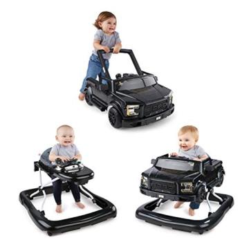 Bright Starts, 3 In 1 Lauflernhilfe, FORD F-150 RAPTOR, Schwarz, in 3 Varianten verwendbar, 2 Kinder können Gleichzeitig Spielen, wächst mit, Ab 6 Monaten - 2