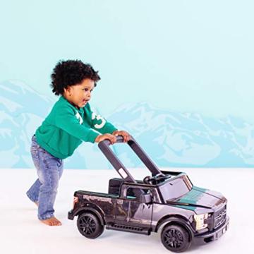 Bright Starts, 3 In 1 Lauflernhilfe, FORD F-150 RAPTOR, Schwarz, in 3 Varianten verwendbar, 2 Kinder können Gleichzeitig Spielen, wächst mit, Ab 6 Monaten - 7
