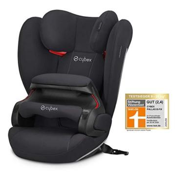 Cybex Silver Kinder-Autositz Pallas B-Fix, Für Autos mit und ohne ISOFIX, Gruppe 1/2/3 (9-36 kg), Ab ca. 9 Monate bis 12 Jahre, Volcano Black - 10
