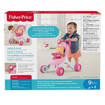 Fisher-Price CGN65 - Princess Mommy Musikspaß Puppenwagen und Baby Lauflernhilfe mit Spielzeug, Gehhilfe ab 9 Monaten - 2