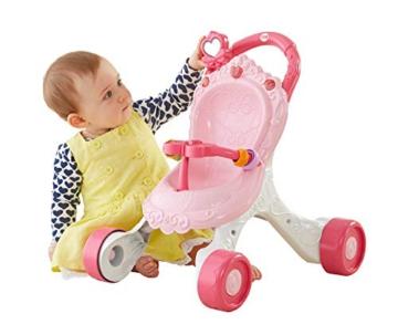 Fisher-Price CGN65 - Princess Mommy Musikspaß Puppenwagen und Baby Lauflernhilfe mit Spielzeug, Gehhilfe ab 9 Monaten - 5