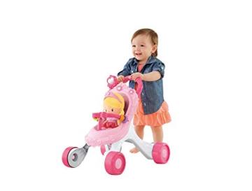 Fisher-Price CGN65 - Princess Mommy Musikspaß Puppenwagen und Baby Lauflernhilfe mit Spielzeug, Gehhilfe ab 9 Monaten - 6