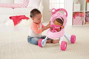 Fisher-Price CGN65 - Princess Mommy Musikspaß Puppenwagen und Baby Lauflernhilfe mit Spielzeug, Gehhilfe ab 9 Monaten - 7