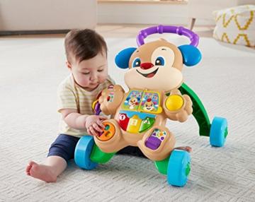 Fisher-Price FRC83 - Lernspaß Hündchens Lauflernwagen und Baby Lauflernhilfe mit mitwachsenden Spielstufen, Liedern und Sätze, Gehhilfe ab 6 Monaten, deutschsprachig - 2