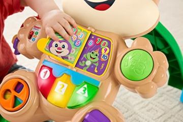 Fisher-Price FRC83 - Lernspaß Hündchens Lauflernwagen und Baby Lauflernhilfe mit mitwachsenden Spielstufen, Liedern und Sätze, Gehhilfe ab 6 Monaten, deutschsprachig - 11
