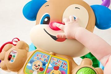 Fisher-Price FRC83 - Lernspaß Hündchens Lauflernwagen und Baby Lauflernhilfe mit mitwachsenden Spielstufen, Liedern und Sätze, Gehhilfe ab 6 Monaten, deutschsprachig - 12
