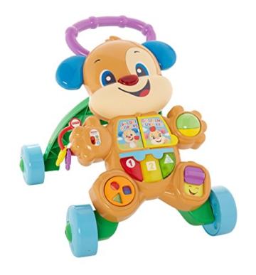 Fisher-Price FRC83 - Lernspaß Hündchens Lauflernwagen und Baby Lauflernhilfe mit mitwachsenden Spielstufen, Liedern und Sätze, Gehhilfe ab 6 Monaten, deutschsprachig - 3