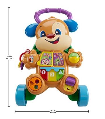 Fisher-Price FRC83 - Lernspaß Hündchens Lauflernwagen und Baby Lauflernhilfe mit mitwachsenden Spielstufen, Liedern und Sätze, Gehhilfe ab 6 Monaten, deutschsprachig - 6