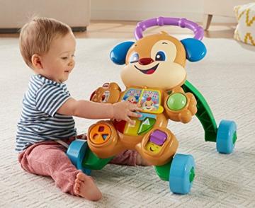 Fisher-Price FRC83 - Lernspaß Hündchens Lauflernwagen und Baby Lauflernhilfe mit mitwachsenden Spielstufen, Liedern und Sätze, Gehhilfe ab 6 Monaten, deutschsprachig - 8