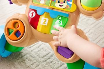 Fisher-Price FRC83 - Lernspaß Hündchens Lauflernwagen und Baby Lauflernhilfe mit mitwachsenden Spielstufen, Liedern und Sätze, Gehhilfe ab 6 Monaten, deutschsprachig - 9