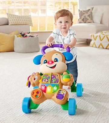 Fisher-Price FRC83 - Lernspaß Hündchens Lauflernwagen und Baby Lauflernhilfe mit mitwachsenden Spielstufen, Liedern und Sätze, Gehhilfe ab 6 Monaten, deutschsprachig - 10
