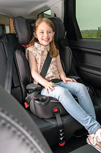 Graco Affix Kindersitz 15-36 kg, Autokindersitz ab 4 bis 12 Jahren, Gruppe 2/3, Konnektoren zur Fixierung am Isofix-System des Autos, mitwachsend, Seitenaufprallschutz, Getränkehalter, Stargazer - 2