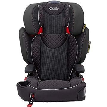 Graco Affix Kindersitz 15-36 kg, Autokindersitz ab 4 bis 12 Jahren, Gruppe 2/3, Konnektoren zur Fixierung am Isofix-System des Autos, mitwachsend, Seitenaufprallschutz, Getränkehalter, Stargazer - 1