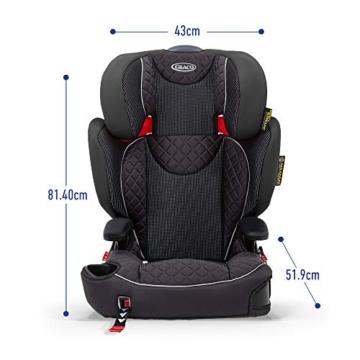 Graco Affix Kindersitz 15-36 kg, Autokindersitz ab 4 bis 12 Jahren, Gruppe 2/3, Konnektoren zur Fixierung am Isofix-System des Autos, mitwachsend, Seitenaufprallschutz, Getränkehalter, Stargazer - 5