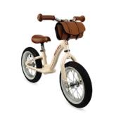 Janod J03294 Metall-Laufrad, Vintage-Retro-Aussehen, Gleichgewicht und Unabhängigkeit lernen, verstellbarer Sattel, aufblasbare Reifen, mit Tasche, Beigefarben, für Kinder ab 3 Jahren - 1