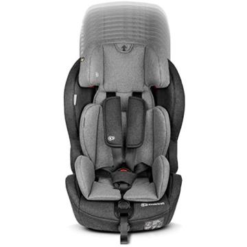 Kinderkraft Kinderautositz SAFETY FIX, Autokindersitz, Autositz, Kindersitz mit Isofix und Top Tether, Gruppe 1/2/3 9-36kg, 5 Punkt Sicherheitsgurt, Einstellbare Kopfstütze, ECE R44/04, Schwarz Grau - 14