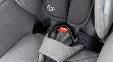 Kinderkraft Kinderautositz SAFETY FIX, Autokindersitz, Autositz, Kindersitz mit Isofix und Top Tether, Gruppe 1/2/3 9-36kg, 5 Punkt Sicherheitsgurt, Einstellbare Kopfstütze, ECE R44/04, Schwarz Grau - 15