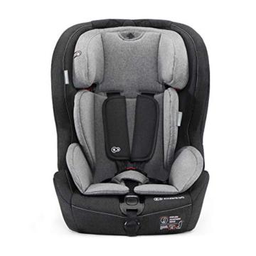 Kinderkraft Kinderautositz SAFETY FIX, Autokindersitz, Autositz, Kindersitz mit Isofix und Top Tether, Gruppe 1/2/3 9-36kg, 5 Punkt Sicherheitsgurt, Einstellbare Kopfstütze, ECE R44/04, Schwarz Grau - 3