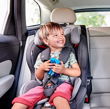 Kinderkraft Kinderautositz SAFETY FIX, Autokindersitz, Autositz, Kindersitz mit Isofix und Top Tether, Gruppe 1/2/3 9-36kg, 5 Punkt Sicherheitsgurt, Einstellbare Kopfstütze, ECE R44/04, Schwarz Grau - 4
