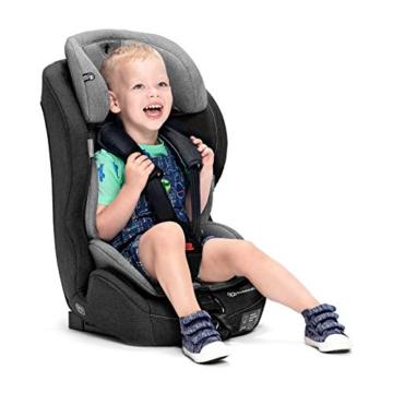 Kinderkraft Kinderautositz SAFETY FIX, Autokindersitz, Autositz, Kindersitz mit Isofix und Top Tether, Gruppe 1/2/3 9-36kg, 5 Punkt Sicherheitsgurt, Einstellbare Kopfstütze, ECE R44/04, Schwarz Grau - 5