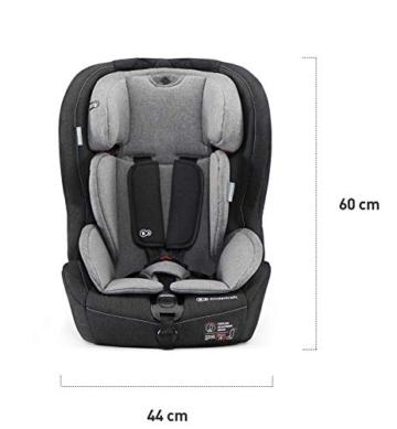 Kinderkraft Kinderautositz SAFETY FIX, Autokindersitz, Autositz, Kindersitz mit Isofix und Top Tether, Gruppe 1/2/3 9-36kg, 5 Punkt Sicherheitsgurt, Einstellbare Kopfstütze, ECE R44/04, Schwarz Grau - 6