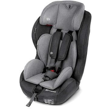 Kinderkraft Kinderautositz SAFETY FIX, Autokindersitz, Autositz, Kindersitz mit Isofix und Top Tether, Gruppe 1/2/3 9-36kg, 5 Punkt Sicherheitsgurt, Einstellbare Kopfstütze, ECE R44/04, Schwarz Grau - 7
