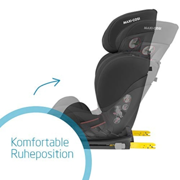 Maxi-Cosi Cosi RodiFix AirProtect (AP) Kindersitz Gruppe 2/3, ISOFIX-Sitzerh?hung, optimaler Seitenaufprallschutz, 3,5 - 12 Jahre, 15 - 36 kg, (schwarz) Authentic Black, 8824671110 - 2