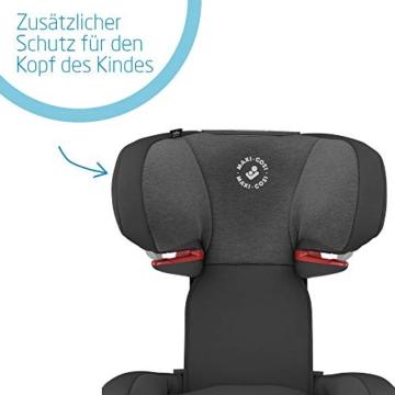 Maxi-Cosi Cosi RodiFix AirProtect (AP) Kindersitz Gruppe 2/3, ISOFIX-Sitzerh?hung, optimaler Seitenaufprallschutz, 3,5 - 12 Jahre, 15 - 36 kg, (schwarz) Authentic Black, 8824671110 - 4