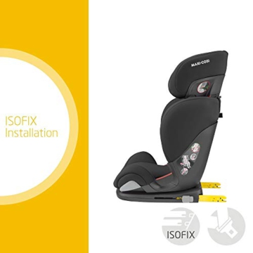 Maxi-Cosi Cosi RodiFix AirProtect (AP) Kindersitz Gruppe 2/3, ISOFIX-Sitzerh?hung, optimaler Seitenaufprallschutz, 3,5 - 12 Jahre, 15 - 36 kg, (schwarz) Authentic Black, 8824671110 - 5
