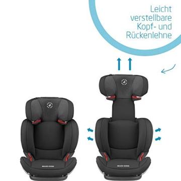 Maxi-Cosi Cosi RodiFix AirProtect (AP) Kindersitz Gruppe 2/3, ISOFIX-Sitzerh?hung, optimaler Seitenaufprallschutz, 3,5 - 12 Jahre, 15 - 36 kg, (schwarz) Authentic Black, 8824671110 - 6