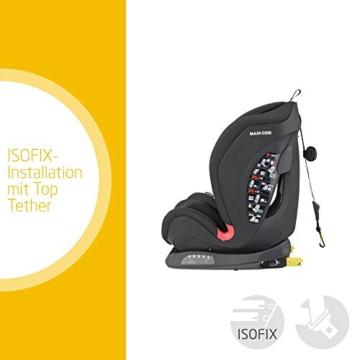 Maxi- Cosi Titan, mitwachsender Kindersitz mit ISOFIX und Ruheposition, Gruppe 1/2/3 Autositz (9-36 kg), nutzbar ab ca. 9 Monate bis ca. 12 Jahre, basic black - 3