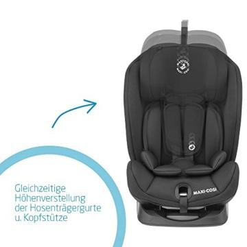 Maxi- Cosi Titan, mitwachsender Kindersitz mit ISOFIX und Ruheposition, Gruppe 1/2/3 Autositz (9-36 kg), nutzbar ab ca. 9 Monate bis ca. 12 Jahre, basic black - 4