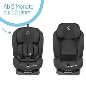 Maxi- Cosi Titan, mitwachsender Kindersitz mit ISOFIX und Ruheposition, Gruppe 1/2/3 Autositz (9-36 kg), nutzbar ab ca. 9 Monate bis ca. 12 Jahre, basic black - 6