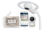 Motorola MBP944 Halo+ Over-the-Crib Wifi Videomonitor mit 4,3-Zoll-Handheld-Elterngerät und WLAN-Hubble-App für Smartphones und Tablets - Weiß - 1