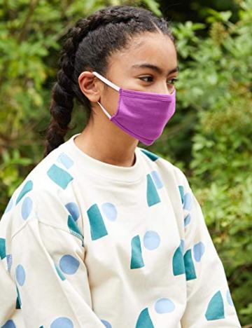 Oscar Apparels Kinder Wiederverwendbare Stoffmaske, 100% BCI Baumwolle mit elastischer Schlaufe, Farbmix 1, Kinder (5er Pack) - 2