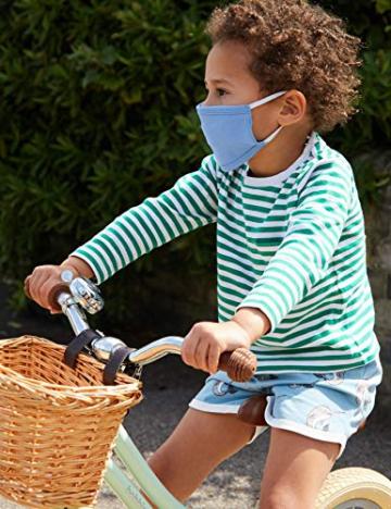 Oscar Apparels Kinder Wiederverwendbare Stoffmaske, 100% BCI Baumwolle mit elastischer Schlaufe, Farbmix 1, Kinder (5er Pack) - 4